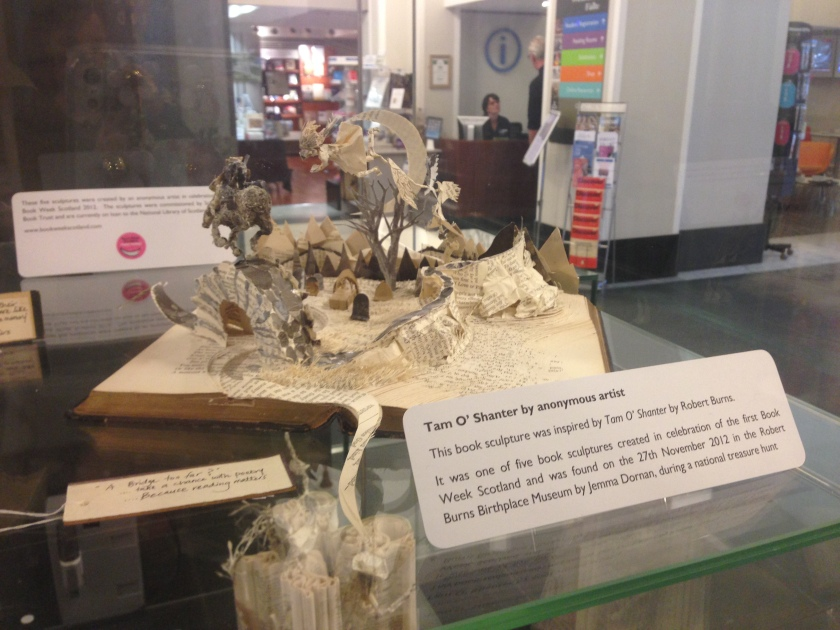 295 Tam O'Shanter Book Sculpture, National Library of Scotland, Edinburgh, 22 September 2015
